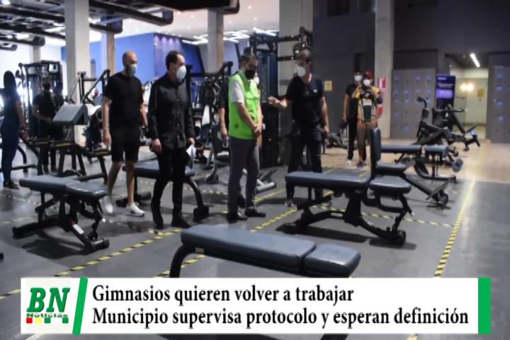 Gimnasios piden volver a trabajar y presentan protocolo al municipio que realizó supervisión