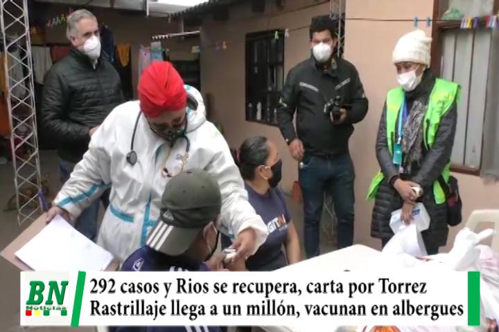 Alerta coronavirus, 292 casos y Rios se recupera y leen carta por Torrez, rastrillaje llega a un millón, clausuran lenocinio