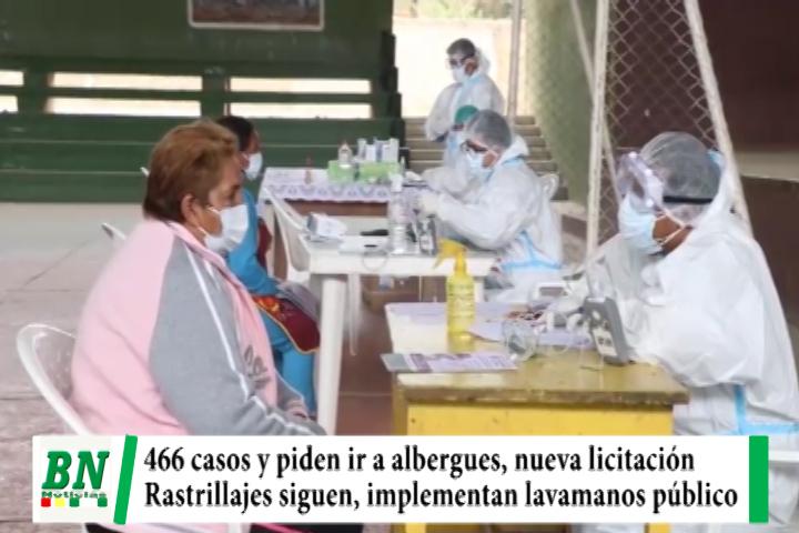 Alerta coronavirus, 466 casos y piden aislarse en albergue ante sospechas, licitan barbijos y rastrillajes siguen, implementan lavamanos público