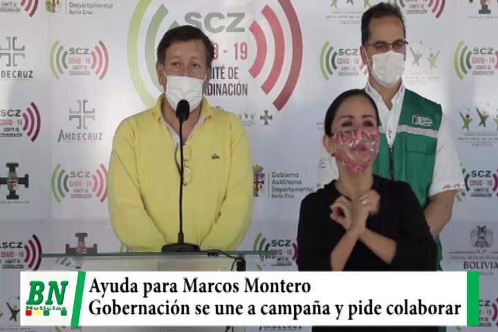 Gobernación se une a campaña por Marcos Montero y da su aporte, piden unirse a cruzada