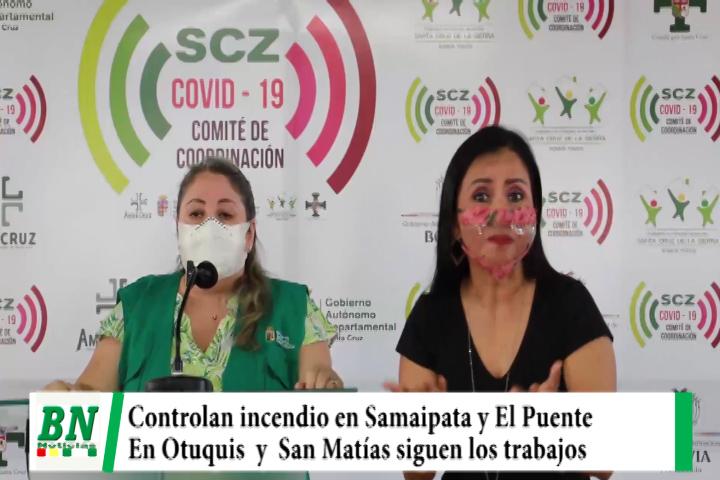 Declaran alerta naranja por incendios, Controlaron en Samaipata y El Puente mientras Otuquis y San Matías siguen trabajos