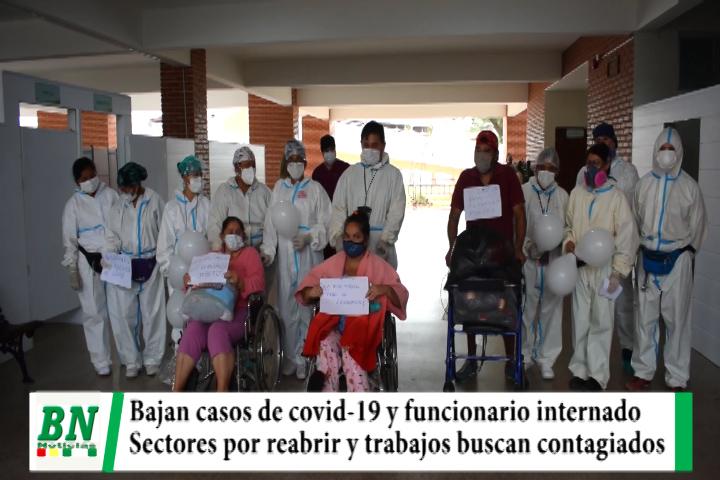 Alerta coronavirus, Bajan casos y funcionario internados, tres dados de alta, cines reabrirán y transporte aumenta pasajeros, Monasterio a salud