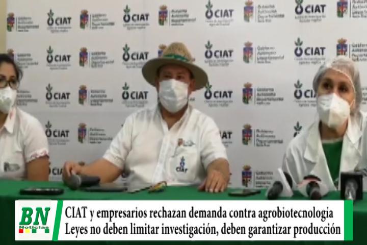 CIAT y empresarios rechazan demanda contra uso de agrobiotecnología y piden no limitar investigación