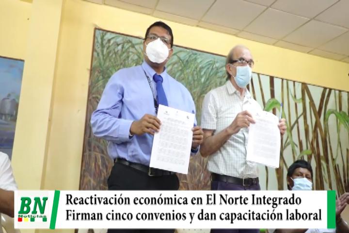 Firman convenios en El Note en el marco de la reactivación económica, nuevos sectores serán beneficiados