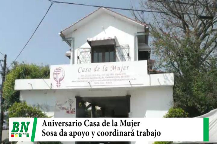 Casa de la Mujer de aniversario y Angélica Sosa promete apoyo y coordinación de trabajo