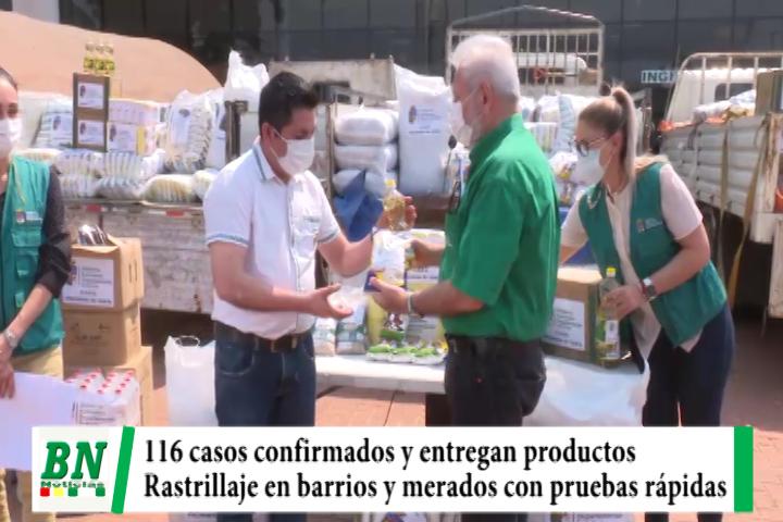 Alerta coronavirus, 116 casos y piden cumplir Bioseguridad, entregan productos para provincias, rastrillaje con pruebas rápidas