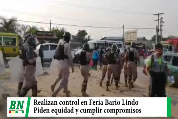 Realizaron control en zona de la Feria de Barrio lindo