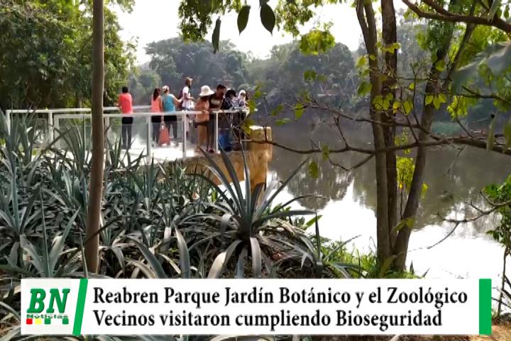 Reabrieron el Jardín Botánico y el Zoológico y la población asistió cumpliendo Bioseguridad