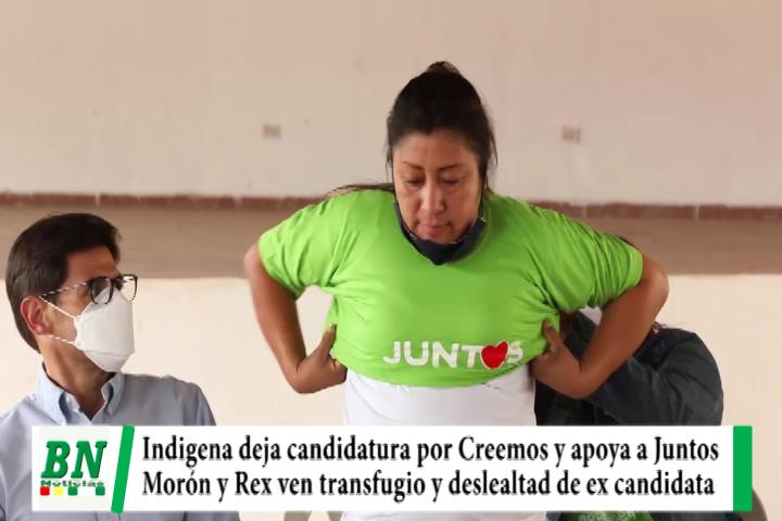 Elección 2020, Candidata indígena por Creemos renuncia y brinda apoyo a Jeanine, ven transfugio y deslealtad