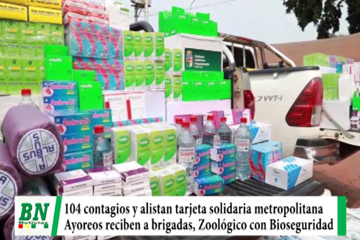 Alerta coronavirus, 105 casos y municipios alistan tarjetas solidarias, brigadas atendieron a Ayoreos y Zoológico con Bioseguridad