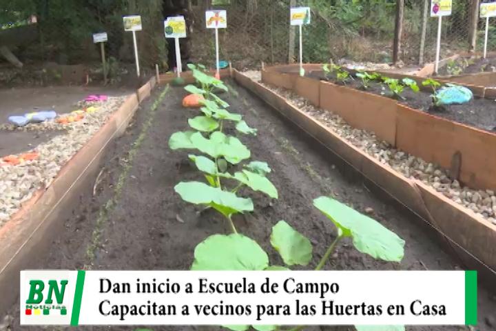 Dan inicio a la capacitación de vecinos en el Programa Escuela de Campo Huertas en Casa