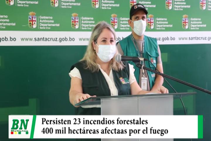Persisten 23 incendios forestales y daño a 400 mil hectáreas, trabajan en el apagado de llamas