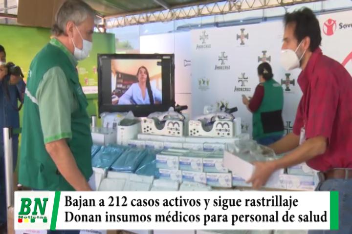 Alerta coronavirus, casos activos bajan a 212 mientras rastrillaje continua, donan insumos médicos