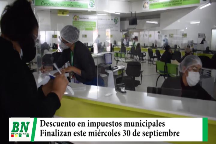 Municipio finaliza descuento de impuestos del 50% este miércoles 30 de septiembre