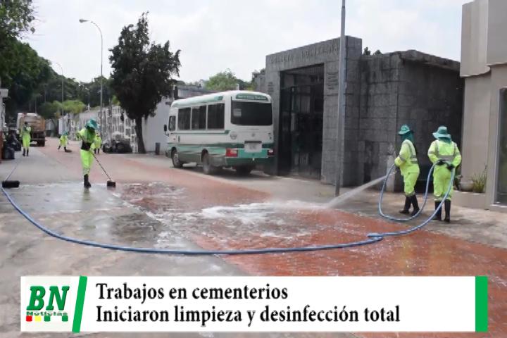 Municipio inició trabajos de limpieza y desinfección en los cementerios