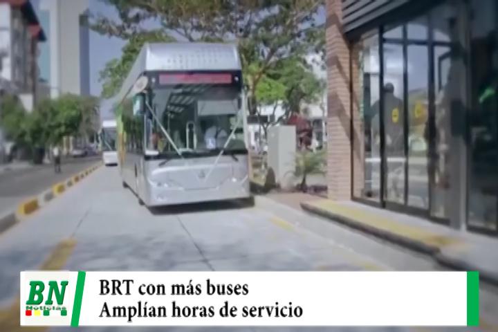 Municipio aumenta cantidad de buses del BRT y amplía las horas de servicio en etapa de pruebas