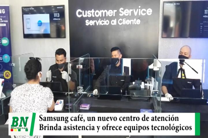 """""""Samsung Café"""", el primer espacio en Bolivia que brinda asistencia técnica mientras se toma un buen café"""