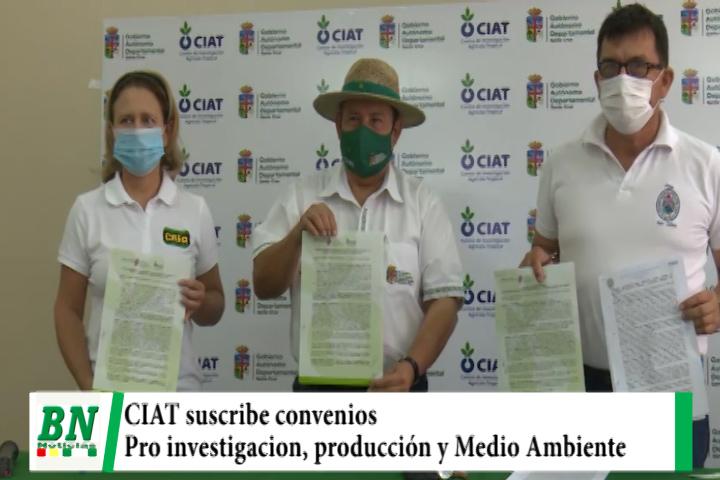 CIAT firma convenio para promover la investigación, producción y el Medio Ambiente