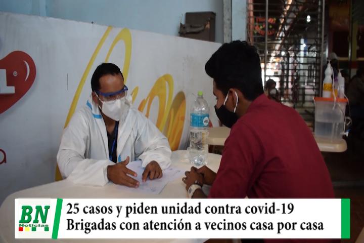 Alerta coronavirus,  25 casos y llaman a unidad en lucha contra covid, brigadas llegan a casi un millon y medio de vecinos