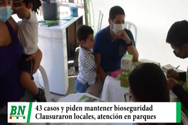Alerta coronavirus, 43 casos y bioseguridad frenará contagios, operativos con cierre de locales y atienden en parques