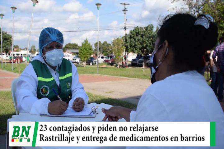 Alerta coronavirus, 23 casos y piden no relajarse, rastrillaje y entrega de medicamentos en barrios