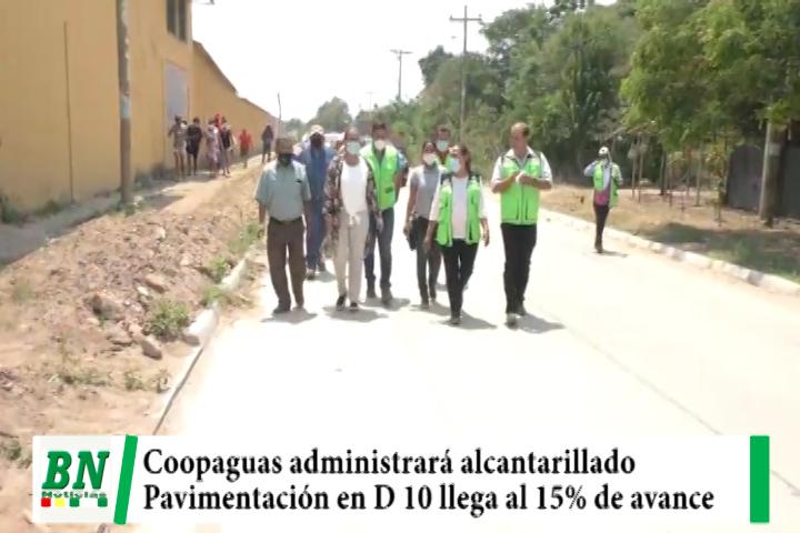 Alcaldía entrega administración del alcantarillado a Coopaguas y supervisa pavimentación del D 10