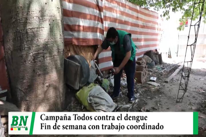 Campaña contra el dengue en fin de semana con destrucción de criaderos de mosquitos  y fumigación