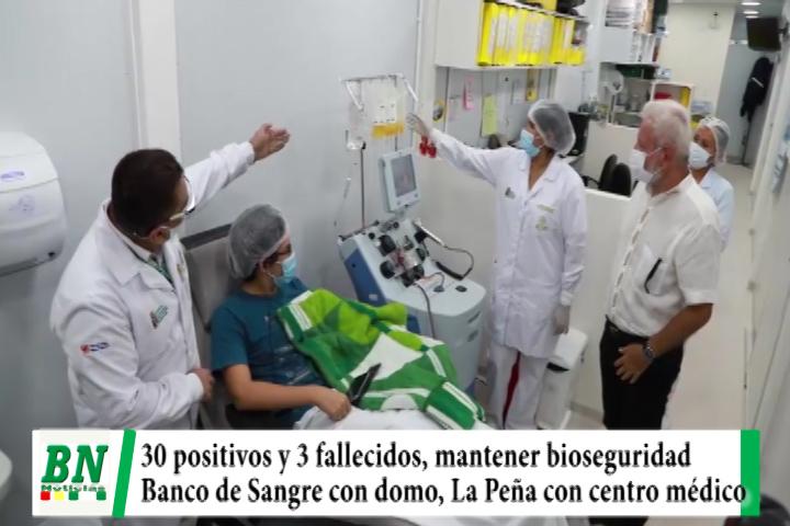 Alerta coronavirus, Registran 30 casos y 3 fallecidos y piden mantener Bioseguridad, entregan domo a Banco de Sangre