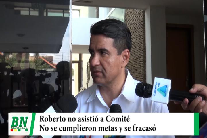 Roberto no asistió a cumbre política Cívica porque antes fracasó, presentará propuesta de Asip