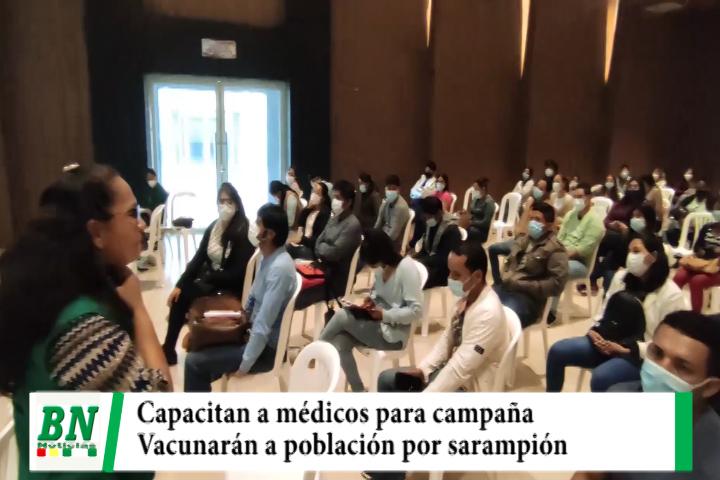 Municipio capacita a personal médico para la campaña de vacunación del sarampión