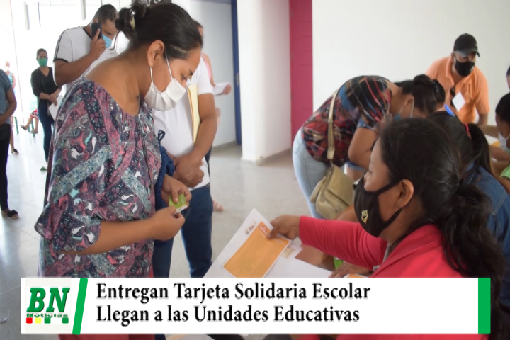 Municipio entrega la Tarjeta Solidaria Escolar en los diferentes Módulos Educativos de la ciudad