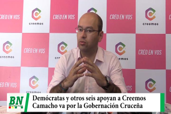 Creemos recibe apoyo junto a Demócratas y Camacho va por la Gobernación