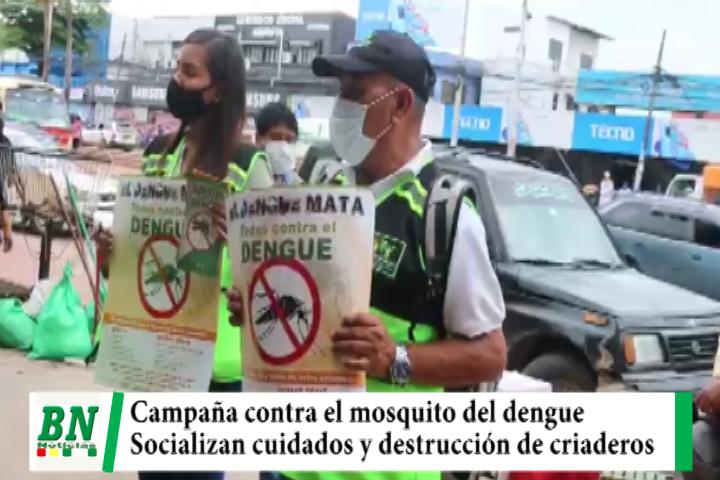Campaña contra el mosquito del dengue se realiza en mercados socializando la destrucción de criaderos
