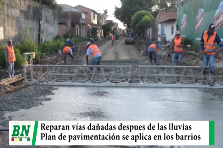 Municipio realiza bacheo en vías dañadas mientras plan de pavimentación se aplica en los barrios