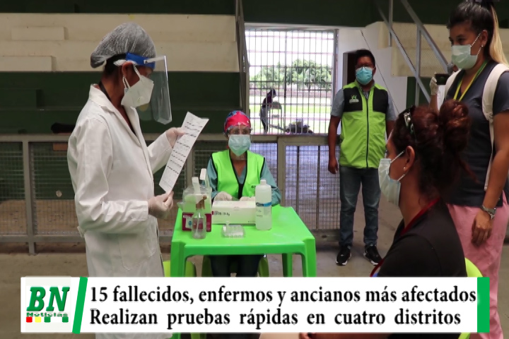 Alerta coronavirus, 15 fallecidos y personas con enfermedades de base y ancianos los más afectados, pruebas rápidas en 4 distritos