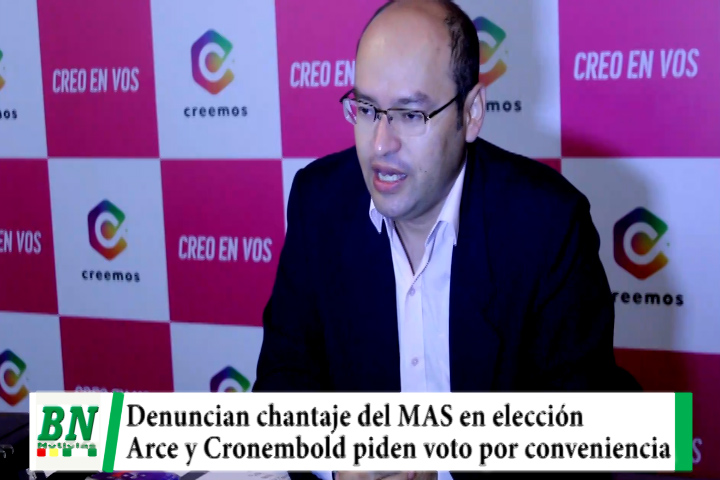 Elección 2021, denuncia chantaje del MAS al condicionar coordinación, Arce y Cronembold piden voto por conveniencia