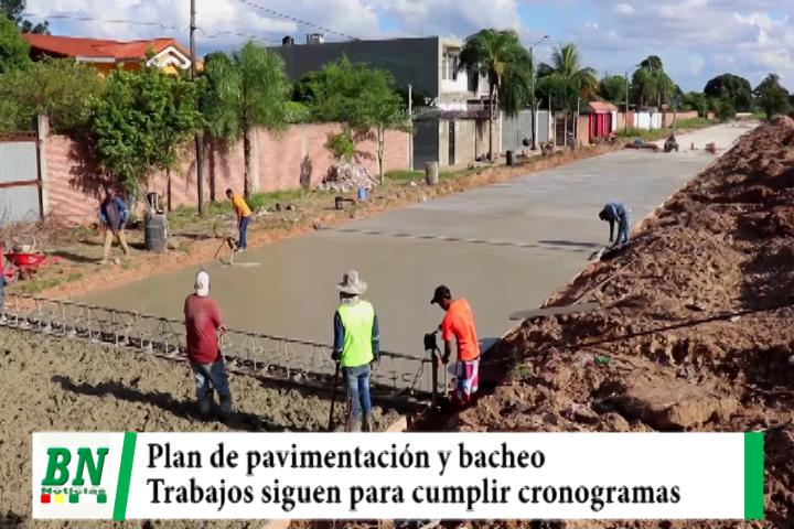 Empresas continúan con el plan de pavimentación y bacheo de calles y avenidas
