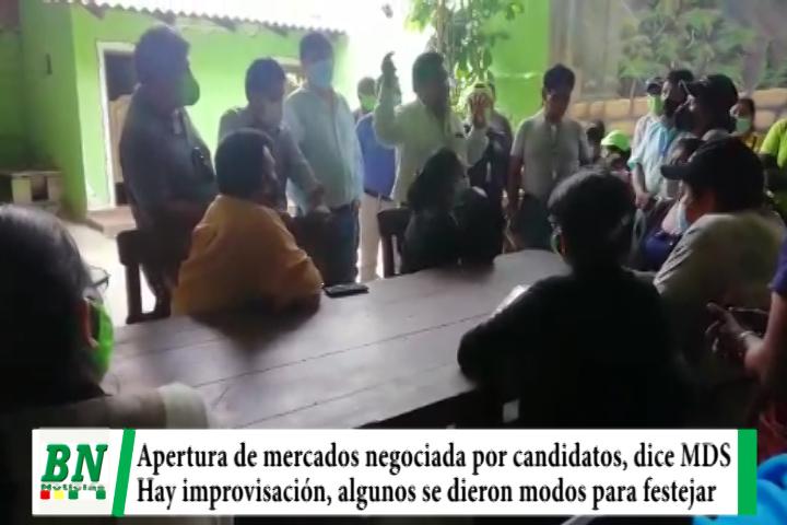 MDS acusa a Sosa y Cahuana de negociar apertura de mercados y Roly ve improvisación, algunos festejan