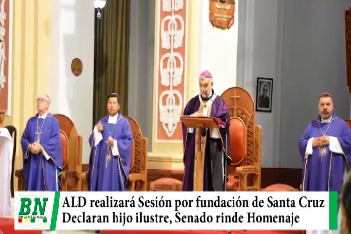 ALD realizará Sesión de Honor por Fundación de Santa Cruz y Concejo nombra Hijo Ilustre a sacerdote, Senado rinde homenaje