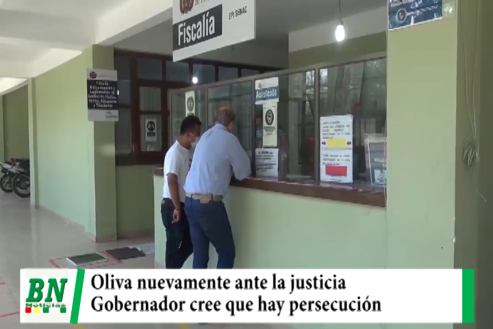 Gobernador Oliva ante la justicia por nuevo proceso y cree que hay persecución