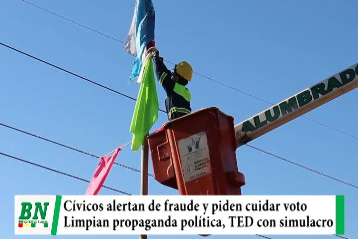 Elección 2021, Cívicos temen fraude y observan falta de auditoria a padrón, limpian propaganda y TED realiza simulacro