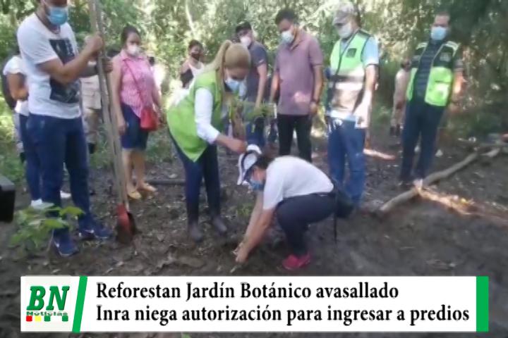 Municipio reforesta zona del Jardín Botánico avasallado mientras el Inra niega autorización
