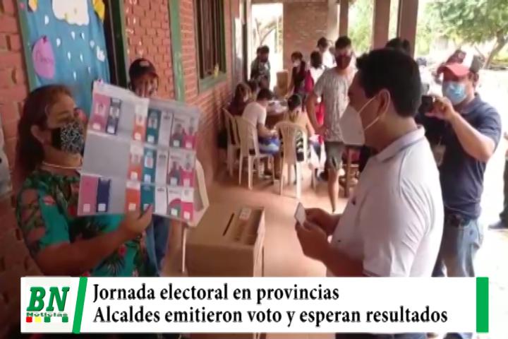 Elección 2021, Votación en La Chiquitania con regularidad y alcaldes emitieron sus votos