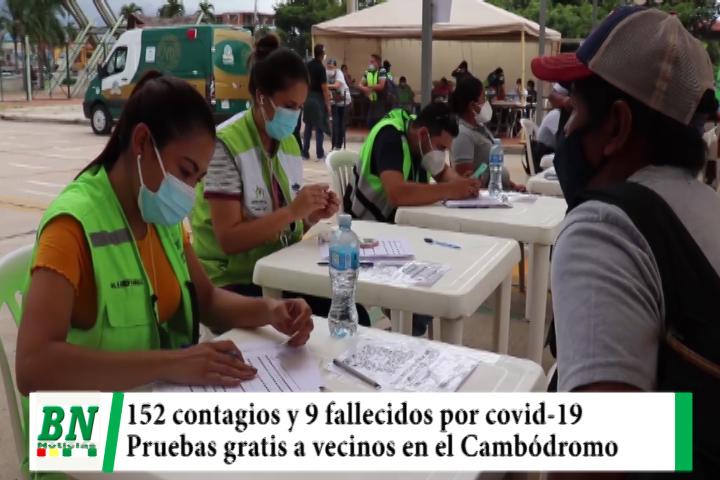 Alerta coronavirus, 152 contagios y 9 fallecidos, vecinos se realizan pruebas gratuitas
