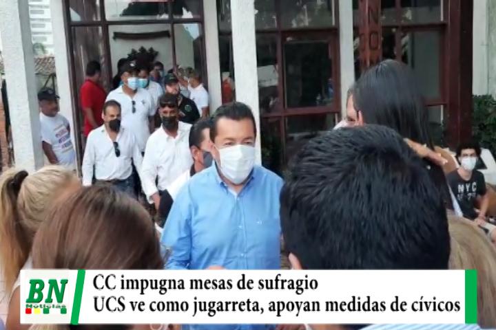 CC impugna mesas de sufragio y UCS ve como jugarreta, apoyan a cívicos y piden más seriedad