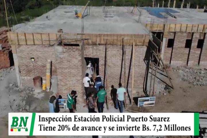 Costas inspecciona construcción de EPI en Puerto Suarez que tiene el 20% de avance