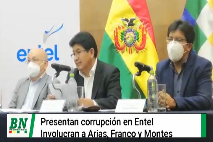 Montaño denuncia corrupción en Entel e involucra a Arias, Franco y Montes