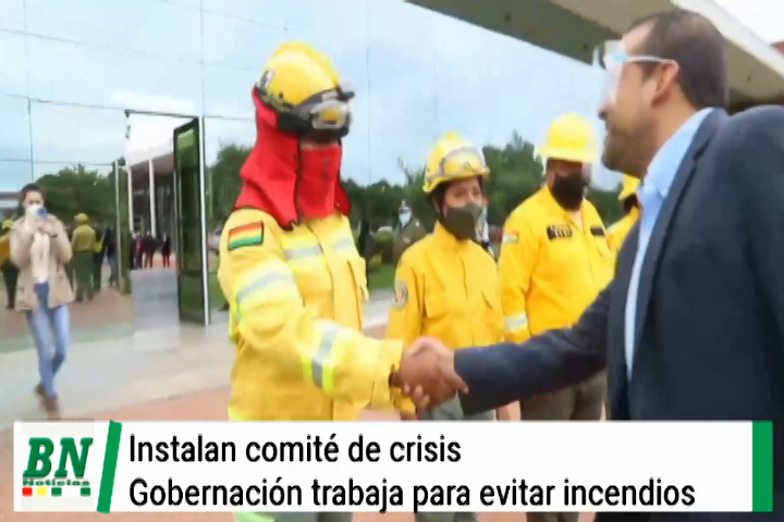 Gobernación instala comité de crisis que trabajarán para evitar incendios forestales