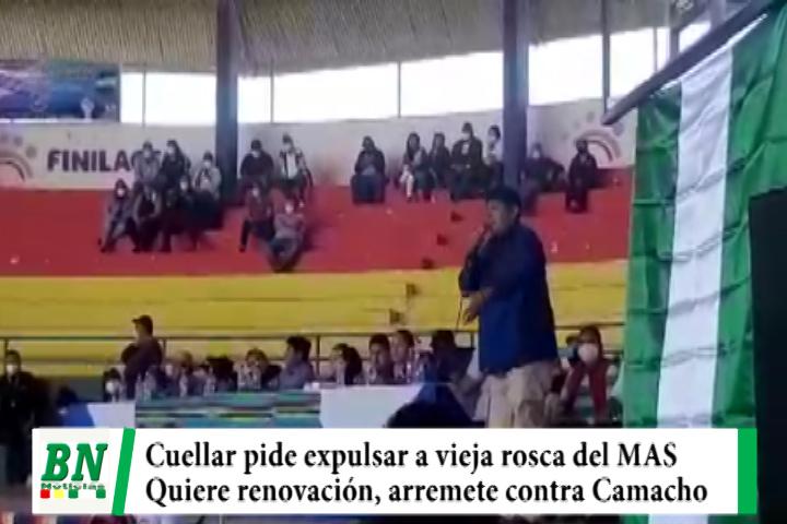 Diputado Cuellar pide expulsar a vieja rosca del MAS que se escondió al salir Evo, quiere renovación