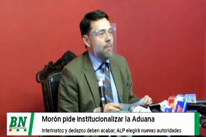 Senador Morón exige acabar con interinatos en la Aduana y que ALD elija a los funcionarios